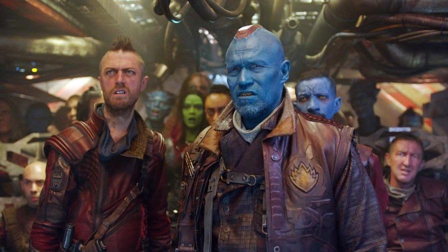 """O ator Michael Rooker como Yondu em cena de """"Guardiões das Galáxia Vol. 2"""" - Reprodução"""