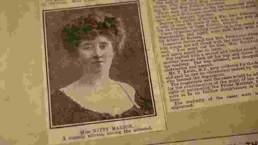 Reportagem antiga sobre Kitty Marion - BBC
