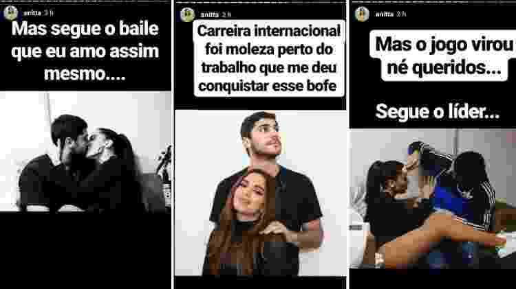 Anitta postou diversas foto românticas com o marido, Thiago Magalhães - Reprodução/Instagram - Reprodução/Instagram