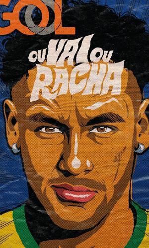 Um dos trabalhos mais comerciais de Butcher foi com ilustrações de Neymar para a Gol, antes da Copa
