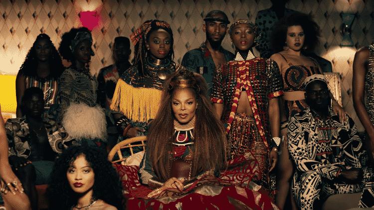 """Janet Jackson em clipe de """"Made For Now"""" - Reprodução - Reprodução"""