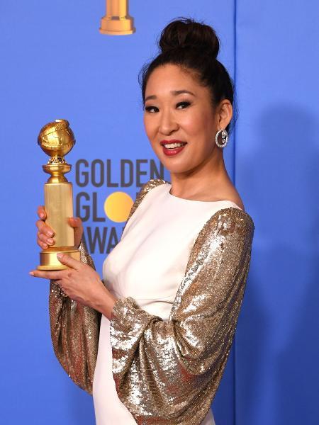 Sandra Oh apresentou Globo de Ouro e também venceu prêmio - Mark Ralston/AFP