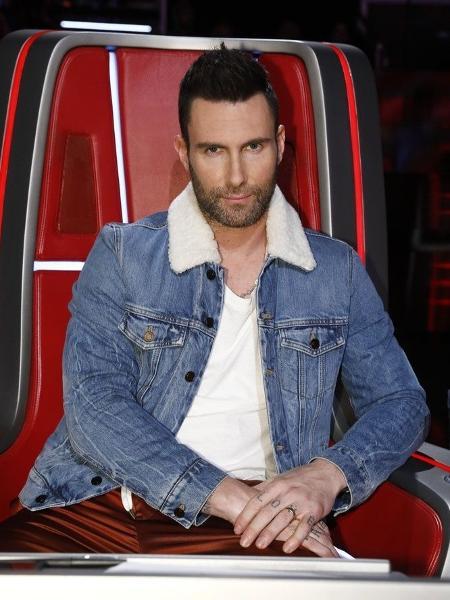 """Adam Levine nas gravações do """"The Voice"""" - Divulgação"""