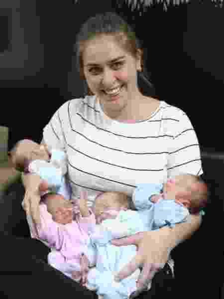 Priscila Sanches Fenato deu à luz quadrigêmeos em Ribeirão Preto - HC Ribeirão Preto/Divulgação