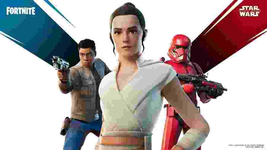 Fortnite ganha novas skins de Star Wars com Rey, Finn e mais - divulgação/Epic Games