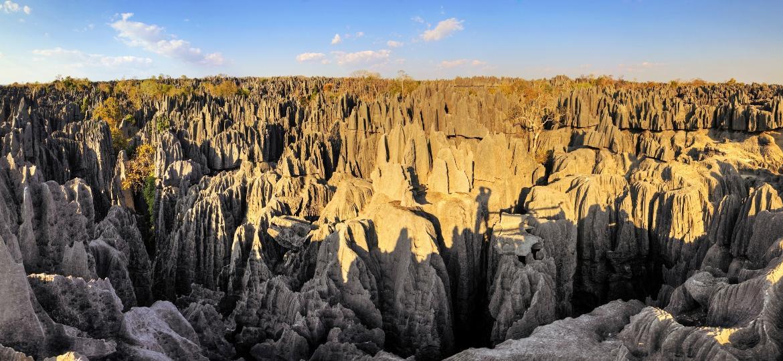 Parque Nacional Tsingy de Bemaraha, em Madagáscar - Getty Images