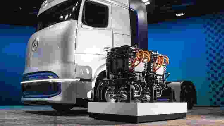 Caminhão da Mercedes a hidrogênio; tecnologia hoje está mais viável para aplicação em veículos de carga - Divulgacão - Divulgacão