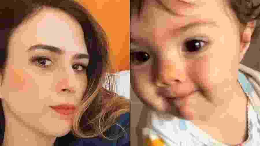 Tatá Werneck mostrou vídeo da filha, Clara Maria, com o pai da criança, Rafa Vitti - Reprodução/Instagram