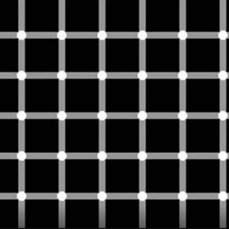 Impossível contar quantos pontos pretos estão na imagem porque eles desaparecem quando você foca a atenção neles - Reprodução - Reprodução