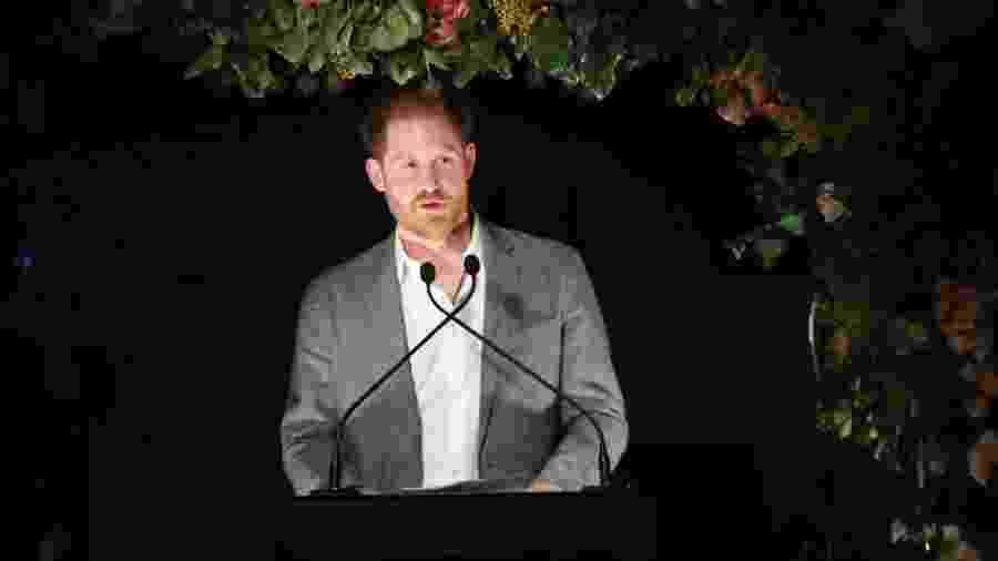 Príncipe Harry durante discurso - Chris Jackson / Getty Images para Sentebale