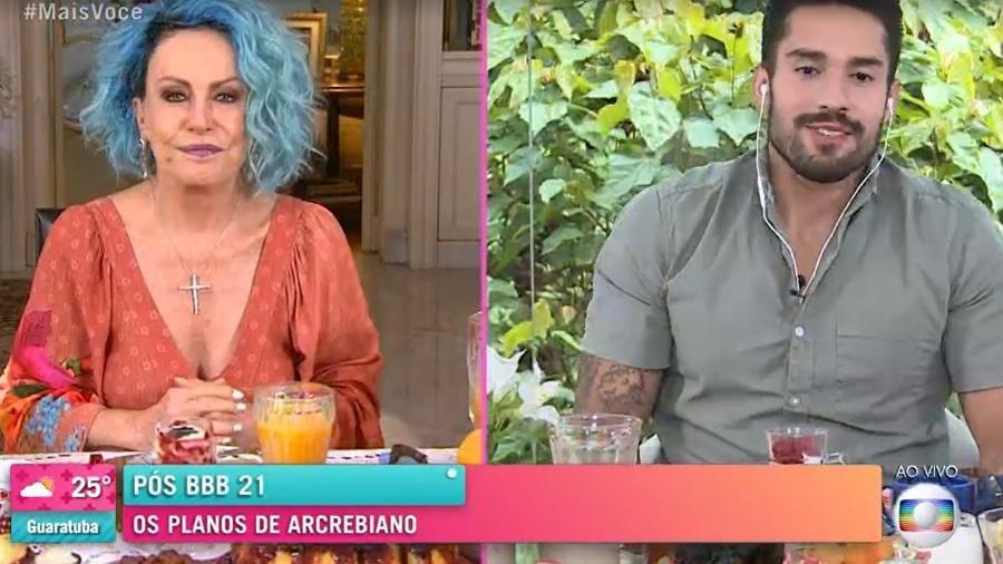 """BBB 21: Arcrebiano no """"Mais Você"""" - Reprodução/TV Globo"""