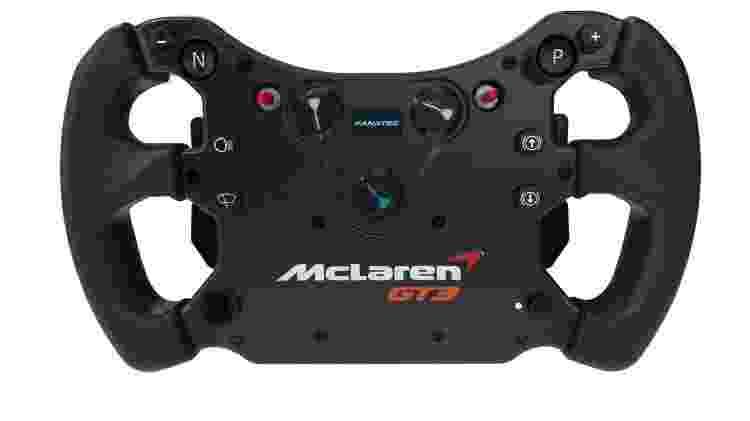Controle em forma de volante Fanatec CSL Elite McLaren GT3 V2 - Divulgação/Fanatec - Divulgação/Fanatec