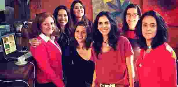 Da esq. para a dir., Rita, Mariane, Gisela, Amanda, Fernanda, Cynthia e Sandra - Arquivo Pessoal