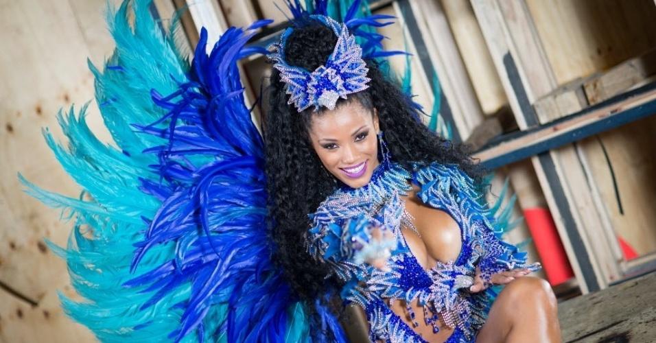 Ariellen já desfilou na Camisa Verde e Branco e em 2013 foi escolhida como Rainha do Carnaval de São Paulo