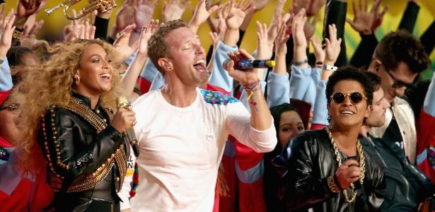 Coldplay em show no Super Bowl - Getty Images