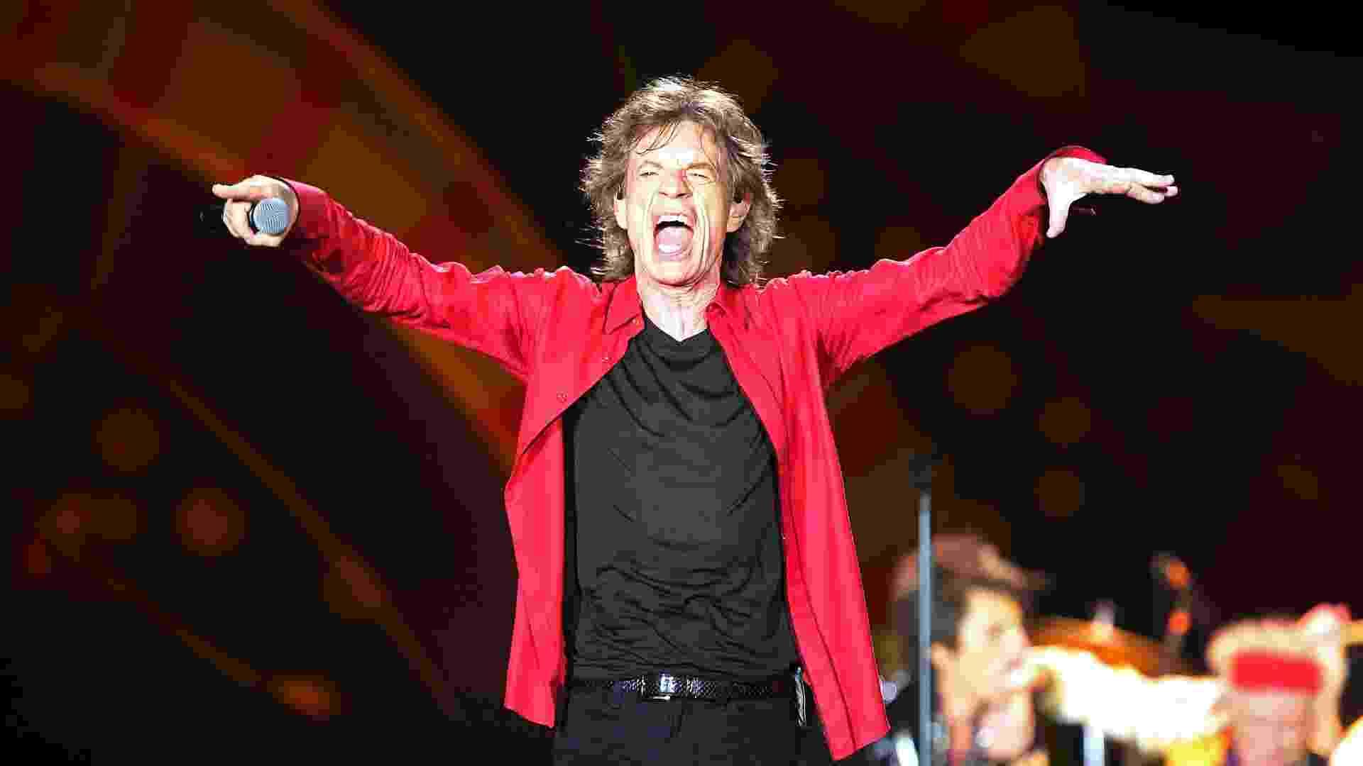 20.fev.2016 - Mick Jagger e sua banda Rolling Stones se apresentam no estádio do Maracanã, no Rio de Janeiro - Júlio César Guimarães/UOL