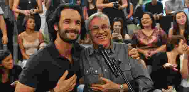 """Caetano Veloso e Rodrigo Santoro gravaram o """"Altas Horas"""", na Globo - Reinaldo Marques / Globo - Reinaldo Marques / Globo"""