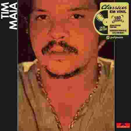 """Capa do disco """"Tim Maia"""", de 1970. Polysom relançou primeiros álbuns da carreira do cantor no formato vinil - Divulgação - Divulgação"""