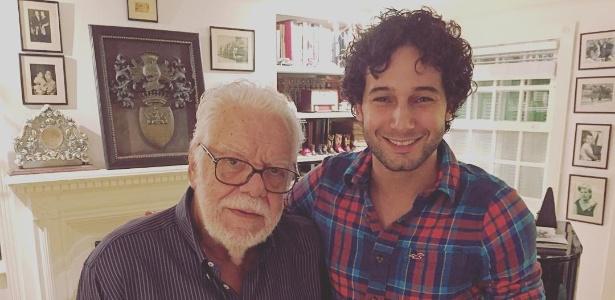 """Rafael Almeida com Manoel Carlos, autor de """"Páginas da Vida"""", novela que o revelou - Reprodução/Instagram/rafaelalmeida"""