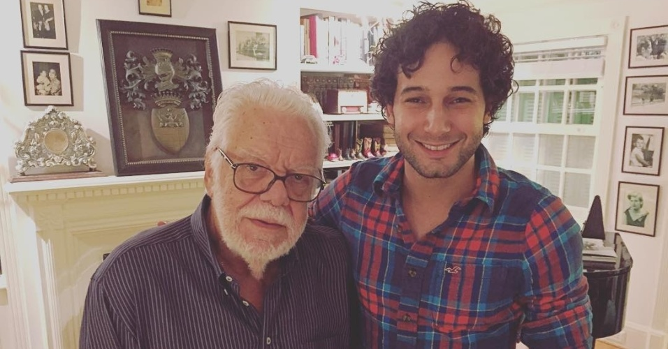 Rafael Almeida e o novelista Manoel Carlos, autor de
