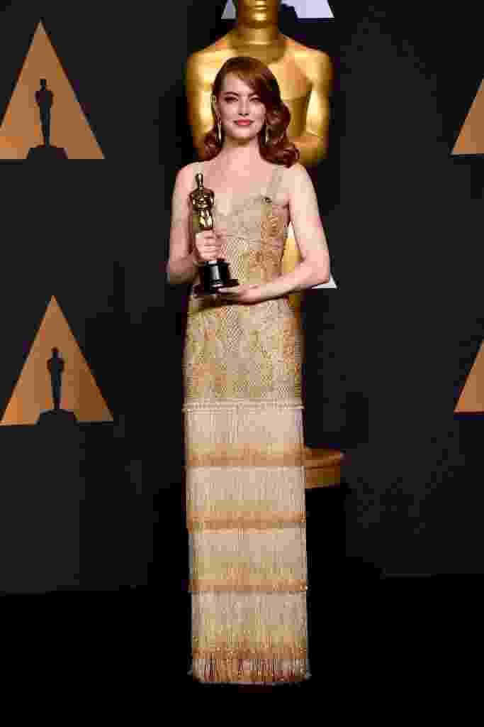 26.fev.2017 - Emma Stone no Oscar - Getty Images
