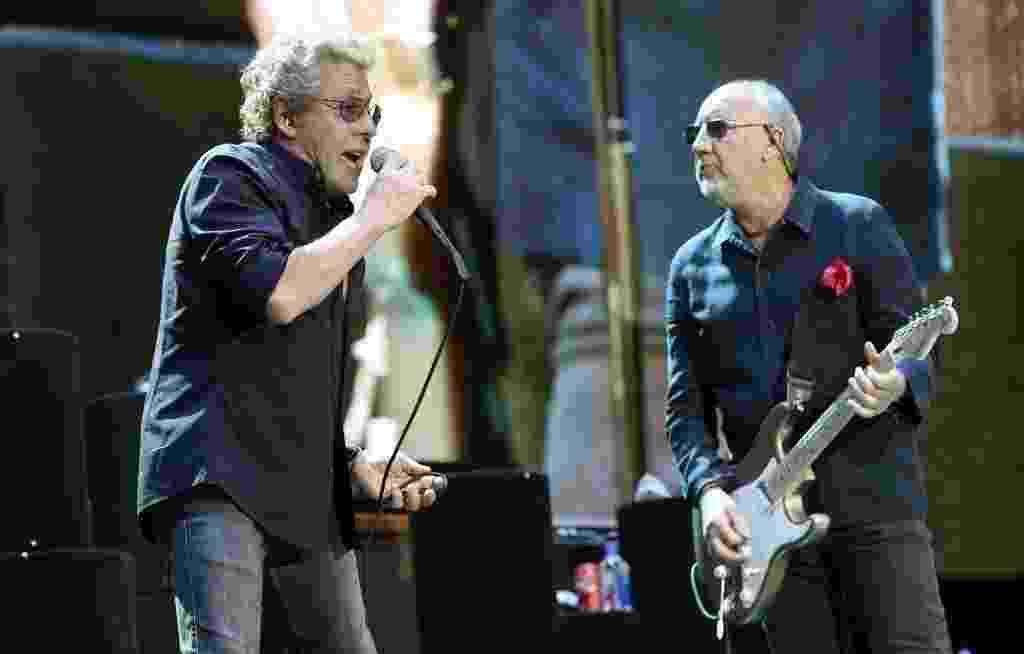 Roger Daltrey e Pete Townshend, do The Who - Chris Pizzello/Invision