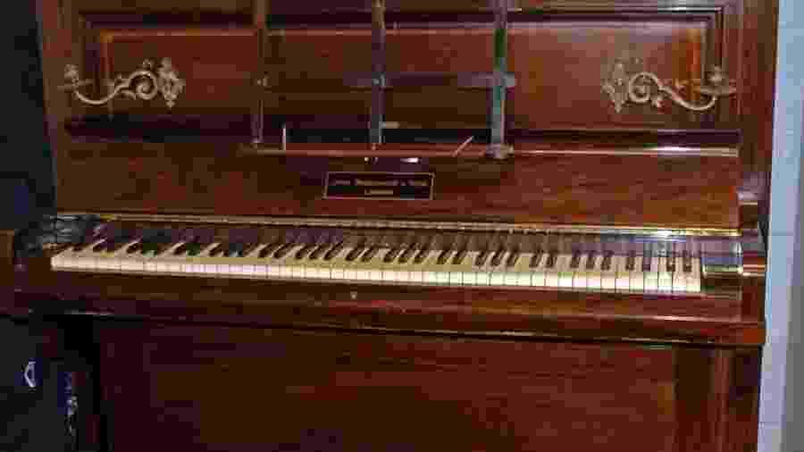 Piano de 110 anos que guardava a fortuna - Divulgação/British Museum