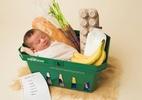 Ela pariu no supermercado e o bebê ganhou um ensaio temático fofura - Jen Matchett/Branches Photography/Reprodução
