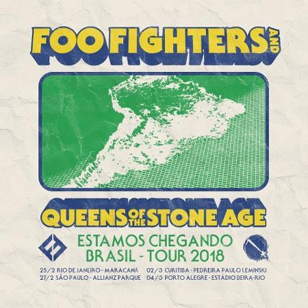 Anúncio de turnê conjunta do Foo Fighters e Queens of The Stone Age - Reprodução/Facebook