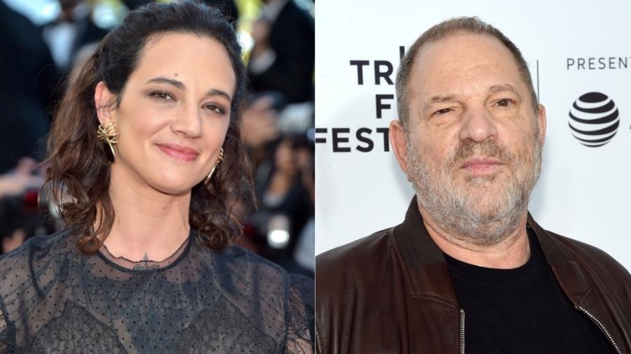 A atriz Asia Argento e o produtor Harvey Weinstein - Getty Images