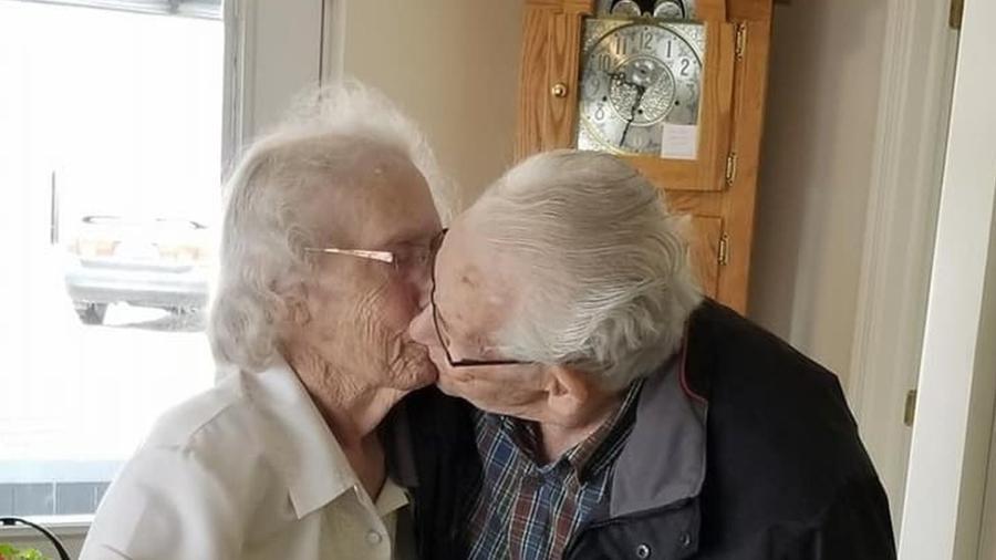 Audrey e Herbert disseram adeus pela primeira vez em 73 anos  - Dianne Phillips/Facebook