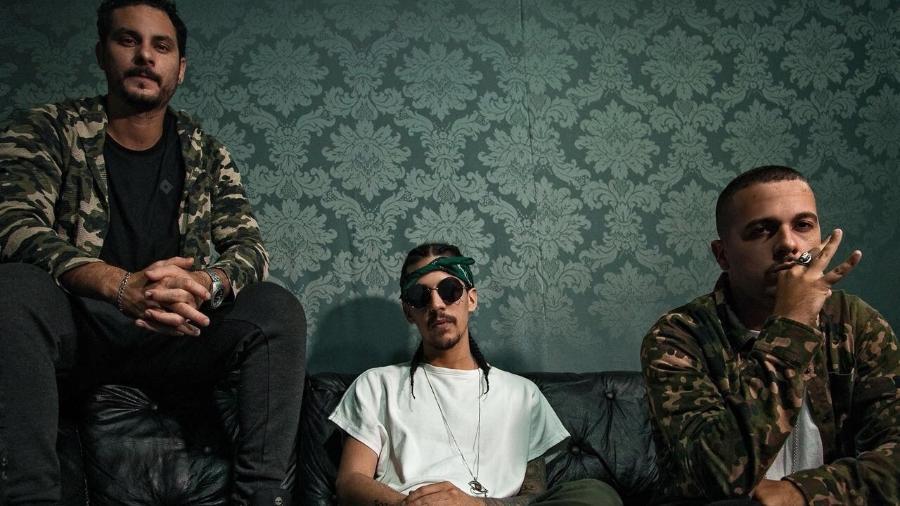 Os rappers Bruno, Rod e LK do grupo de rap 3030 - Carlos Anselmo