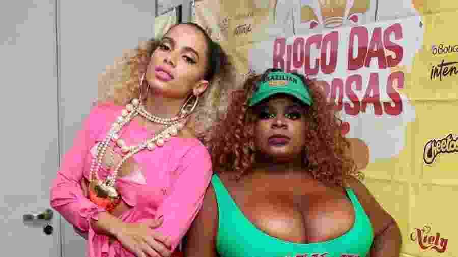 """Vestida de """"Vai, Malandra"""", Anitta faz Ensaio do Bloco das Poderosas ao lado de Jojo Todynho  - Manuela Scarpa/Brazil News"""