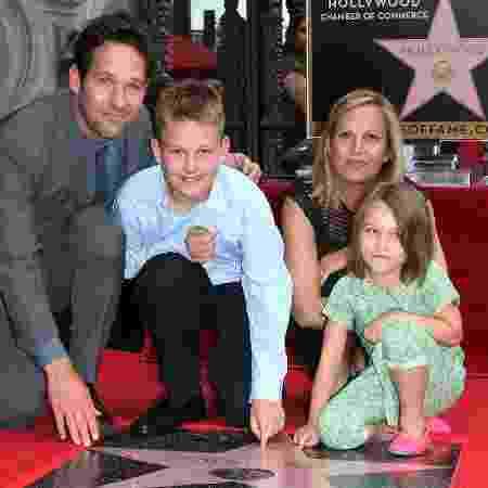 Paul Rudd com a mulher e os dois filhos - Frederick M. Brown/Getty Images - Frederick M. Brown/Getty Images