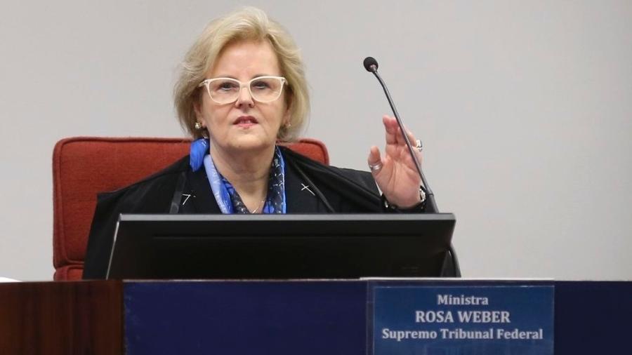 A ministra do STF e relatora Rosa Weber durante audiência sobre descriminalização do aborto - José Cruz/Agência Brasil