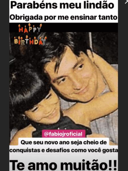 Cleo Pires em foto antiga com Fábio Jr. - Reprodução/Instagram