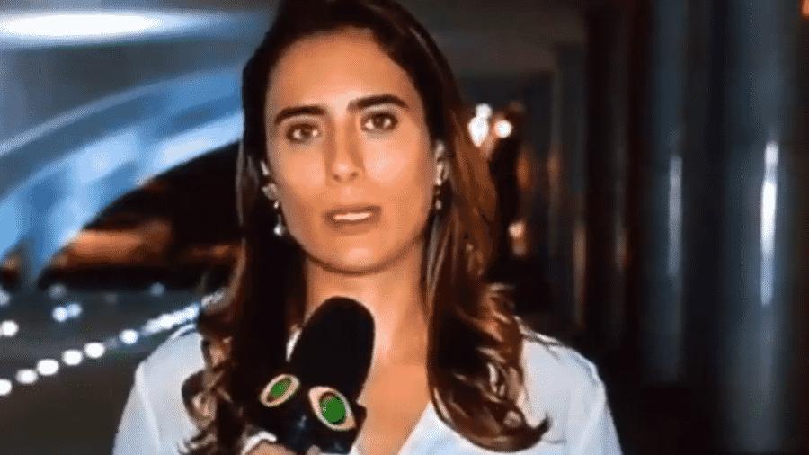 A repórter da Band Lena Canepa errou o nome da primeira-dama da Brasil em uma entrada ao vivo na BandNews - Reprodução/Twitter