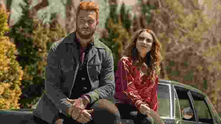 """Mad Sweeney e Laura Moon em cena da segunda temporada de """"American Gods"""" - Divulgação - Divulgação"""