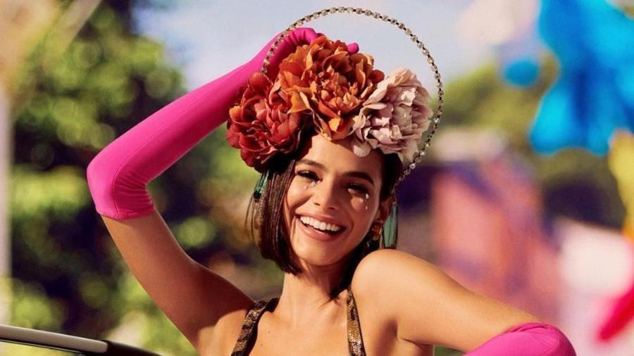 Bruna Marquezine em imagem postada no Instagram durante o Carnaval - Reprodução/Instagram
