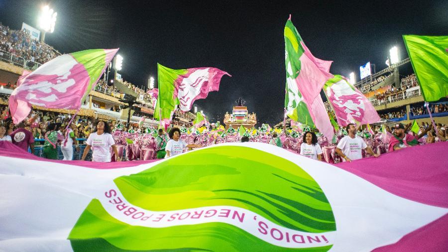 Objetivo da Liga é realizar o ritual da lavagem da pista e o teste de luz e som com a Mangueira, campeã do Carnaval 2019 - Raphael Dias/Getty Images