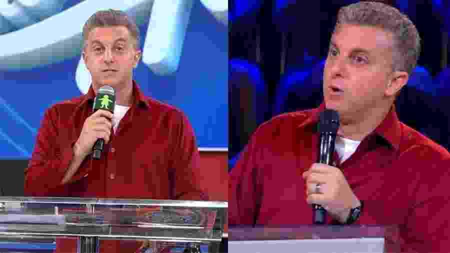 Luciano Huck usa mesma camisa em entrada ao vivo e quadro gravado para o Caldeirão deste sábado - Reprodução/Globo