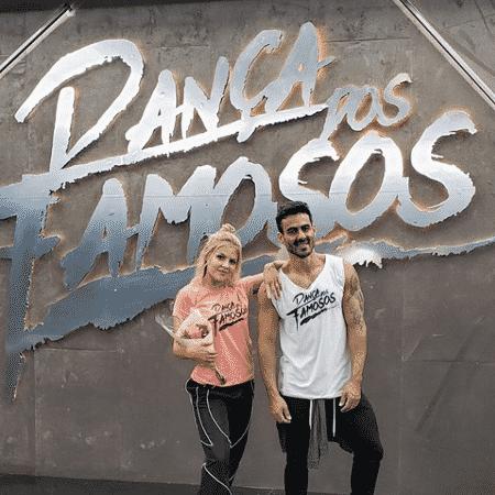 Luísa Sonza posa ao lado de seu professor de dança para a Dança dos Famosos - Reprodução/Instagram