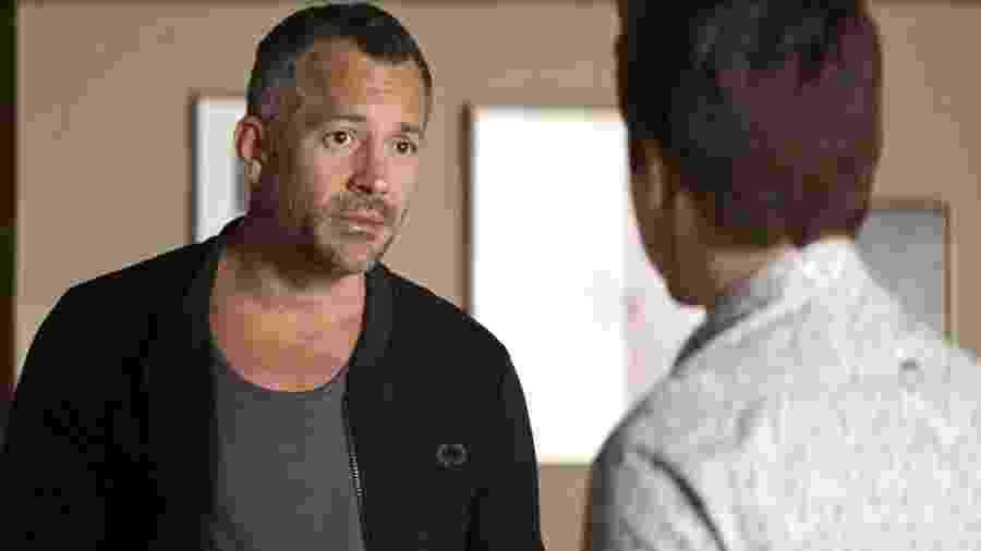Agno (Malvino Salvador) e Leandro (Guilherme Leicam), em A Dona do Pedaço - Divulgação/Globo