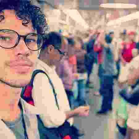 José Loreto no transporte público - Reprodução/Instagram