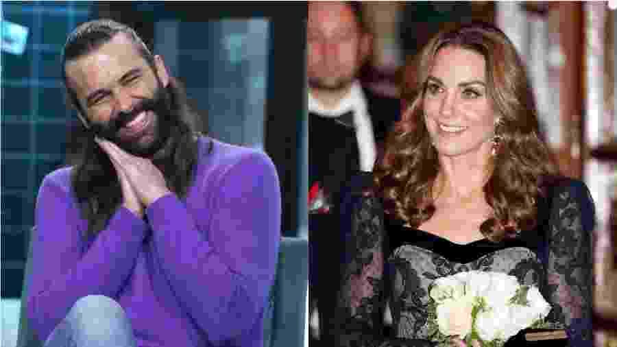 Jonathan Van Ness, do Queer Eye, e a duquesa de Cambridge, Kate Middleton - Getty Images