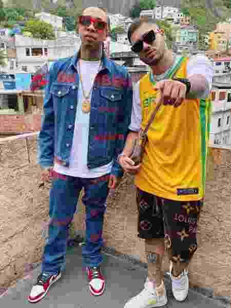 Rapper americano Tyga e MC Kevinho gravam clipe no Vidigal  - Reprodução/Instagram
