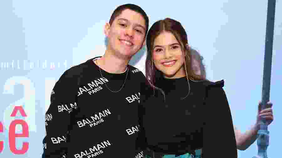 Nicholas Arashiro e Maisa anunciaram o namoro em fevereiro de 2018 - Manuela Scarpa/Brazil News