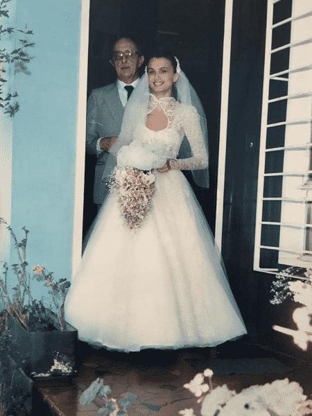 União da mãe de Rebecca aconteceu em 1989 - Arquivo Pessoal - Arquivo Pessoal