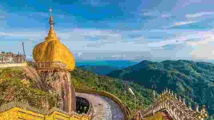 Kyaiktiyo Pagoda, em Myanmar, um dos atrativos da primeira etapa da viagem entre Nova Déli e Londres - Divulgação - Divulgação