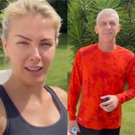Ana Hickmann registra retorno do marido, Alexandre, na mansão do casal - Reprodução / YouTube